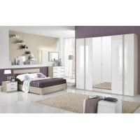 High Gloss Hotel Bedroom Furniture Sets , 6 Door Painting Melamine Wardrobes Manufactures