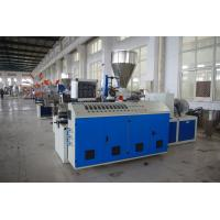 PVC Pipe / Plastic Profile Twin Screw Extruder Machine High Extruding Output Manufactures