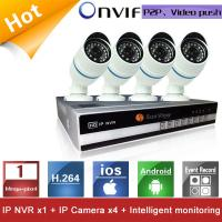 China 4 Channels CCTV NVR KIT 720P 1.0mp IP Camera Network video recorder P2P support Home alarm on sale