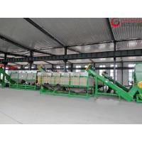 China LDPE Plastic Film Washing Line Easy Operation Delta ABB Inverter Dewatered Dryed on sale