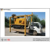 Crawler Mounted Water Well Drilling Rig With Air Compressor / Mud Pump Manufactures