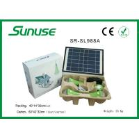 Long lifespan 12W solar panel Solar Home Lighting System with 3W*3pcs LED bulbs Manufactures