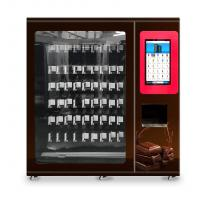 China chocolate and snacks vending machine with x-y axis elevator and adjustable channel width function on sale