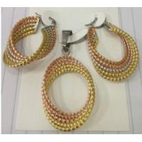 Costume Jewelry Three Color Fashion 316L Stainless Steel Jewelry Sets for Women Manufactures