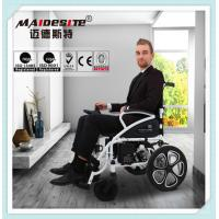 Medical Lightweight Motorized Folding Wheelchair , Disabled Power Electric Wheelchair Manufactures
