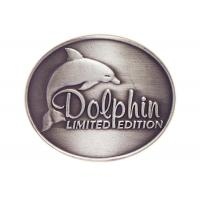 Customized Antique Silver Plating Curved Dolphin Badge, Pewter Souvenir Badges for Mug Manufactures