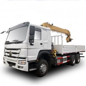 China 12 Span Mounted Crane Boom Truck / HOWO 4x2 290hp 15 Ton Hydraulic Arm Truck on sale