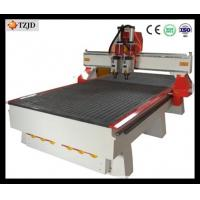 China 3d furniture Wood Carving CNC Router machine with double heads Manufactures