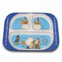 Plate/Dish Set, Made of Melamine, Customized Colors, Designs and Sizes Accepted, Sized 25 x 16cm Manufactures