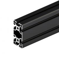6063 Black Anodized High Quality Aluminium Alloy Extrusion Factory Supply Industrial Heat Sink Manufactures