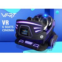 Multiplayer 6 Seater 9D Virtual Reality Cinema VR Roller Coaster Simulator CE ROHS PATENT Manufactures