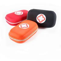 China Customized Medical Grade First Aid Kit Round Shape Colored Carrying Organizer on sale