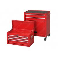 Friction Drawer Slides Tool Box Cabinet Combo , Rolling Tool Storage Chest Combo Manufactures