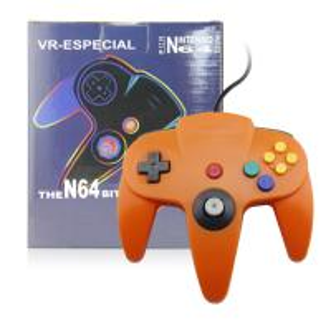 Durable Orange N64 Controller Joystick, Nintendo 64 Gamepad 10 Function Buttons Manufactures