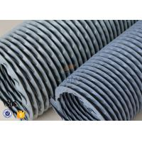 """6"""" Grey PVC Coated Fiberglass Fabric Flexible Air Duct For Fume Extraction Manufactures"""