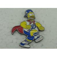 Brass Die Stuck Softball Pins , Zinc Alloy Promotional LA Baseball Pin Manufactures