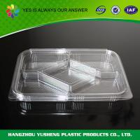 Five Compartment Food Clamshell Packaging Square Take Out Food Boxes for sale