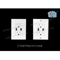 4.2A Smart High Speed USB Charger Outlet , 15A Tamper-Resistant outlet Manufactures