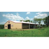 Customized Agricultural Steel Buildings Hay Barn With Steel Wall And Roof 0.7mm PPGI Manufactures