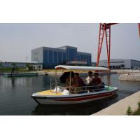 China 5 People ECO Fully Electric Powered Boat In Lake , 24V 10 KM/H 3 KW on sale