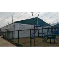 China Big Movable Outdoor Warehouse Storage Tent , Canvas Storage Tent Sandwich Panel Walling System on sale