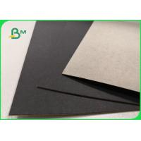 Quality 1mm 2mm Single Black Coated Cardboard Sheets For Gift Boxes Good Stiffness for sale