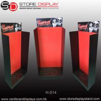 Corrugated POP retail hanging hook floor display Manufactures