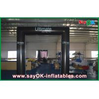 Quality PVC Cube Square Inflatable Door Arch Model Waterproof Foldable Gate With Logo for sale