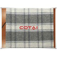 Gray Big Tartan Simple Double Faced Wool Coating Fabric Business / Causal Style Manufactures