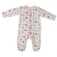 China Winter Cute Newborn Baby Clothesbaby Girl Sleepwear With Alll Over Prints on sale