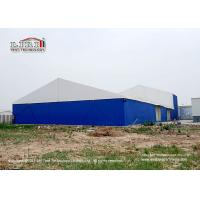 30m Width Industrial Storage Tents With  Block - Out And Translucent Roof Cover Manufactures