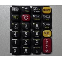 Glossy Oil 3 Color Printing Silicone Rubber Mold For Keypad Manufactures
