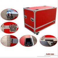 Blue Plywood AluminumTool Cases With 13cm Height Wheels Manufactures
