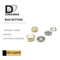 China Gold Color Bulk Clothing Pearl Prong Snap Buttons Fasteners Nickel-Free on sale