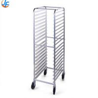 Custom Design Baking Tray Trolley / Stainless Steel Baking Tray Rack Trolley Manufactures