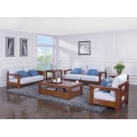 High end quality 1+2+3 Solid wood Leisure sofa set by Fabric and density sponge upholstered seat cushion Manufactures