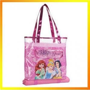 Hot sale cute zipper waterproof pvc beach tote bag Manufactures