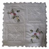 China Crochet Cushion with PP Filling, Man-made on sale