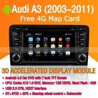 Audi A3 2003-2011 Android Auto Radio DVD Player with GPS Navigation Wifi 3G Digital TV RDS CAN Bus Manufactures