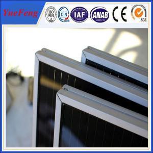 FOB shanghai solar energy electrial aluminum profile, OEM solar panel aluminum frame Manufactures