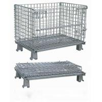Workshop Metal Wire Mesh Cages , Galvanized Wire Folding Wire Container Manufactures