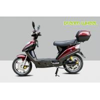 Red 16 Pedal Assisted Electric Scooter 500W 48V Hydraulic Disc Brakes power assisted bicycle Canadian standard Manufactures