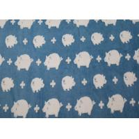 Lovely Pig Winter Berber Fleece Fabric Jacquard For Blankets OEM / ODM Available Manufactures