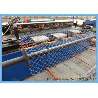 6 Gauge 6 foot galvanized Industrial Chain Link Fence Gate , Chain Link Wire Fence For Defence Manufactures