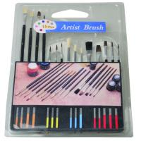 Slim Long Handled Paint Brushes , Personalised Paint Brush Set T With Plastic Palette Manufactures