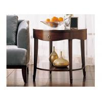 Fashion Style  Hotel Coffee Table Round Shape Side Table With Drawer Eco -  Friendly Manufactures