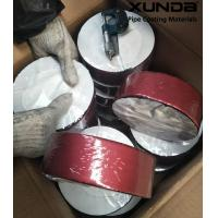China Deep red color aluminium foil butyl rubber waterproof sealing tape on sale