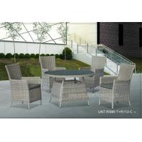 4 Piece Outdoor Rattan Chairs With Round Table , Metal Garden Furniture Sets Manufactures
