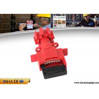China Durable Valve Lockout Tagout , Red Universal Gas Valve Lockout Device on sale