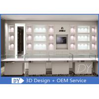 Buy cheap OEM 1200MM Wooden White Single Tier Glass Jewellery Glass Counter from wholesalers